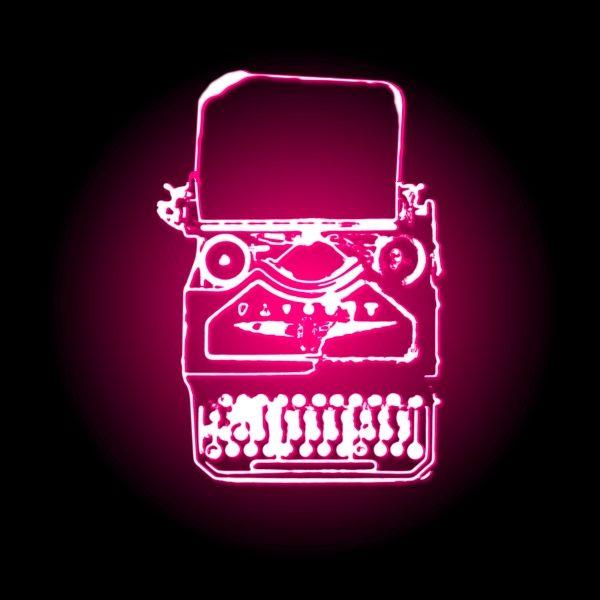 editing_neon typewriter_pink_woo